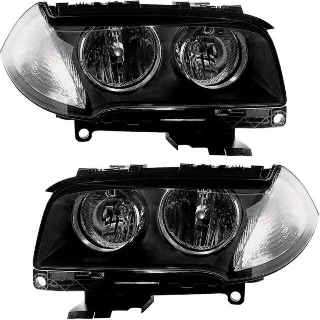 Halogen Headlights Headlight Assembly w/Bulb NEW Pair Set for 2007-2010 BMW X3   eBay