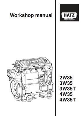HATZ DIESEL ENGINE 2W35 3W35 3W35 T 4W35 4W35 T WORKSHOP