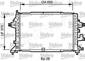 VALEO Engine Cooling Radiator Fits OPEL Astra Sedan Wagon