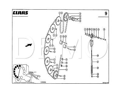 Claas Rollant 250, 250RC Parts Catalogue, Original Manual