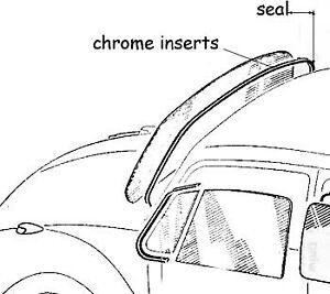 VW Vintage Parts Seal, Windshield, O.E. Style, Split Bug's
