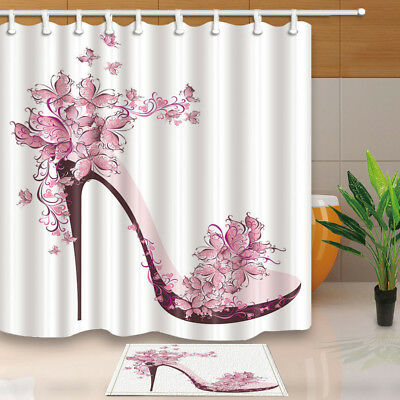 butterfly high heels and flowers