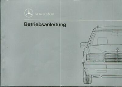 Mercedes 124 Combi operating instructions 1990 Manual