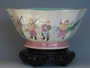 Fine Large Antique Chinese Famille Rose Porcelain Bowl with TONGZHI Mark
