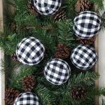 Black White Buffalo Check Snow Boots Ornaments Plaid Ornaments For Sale Online Ebay