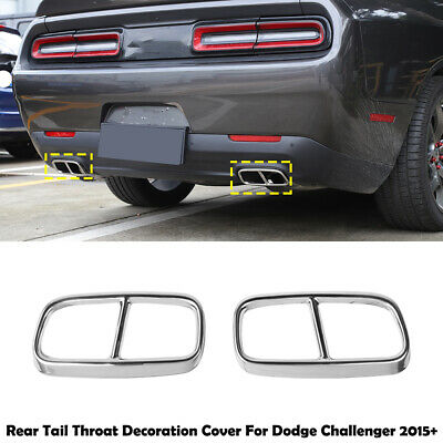stainless steel exhaust pipe tail throat cover trim frame for dodge challenger ebay