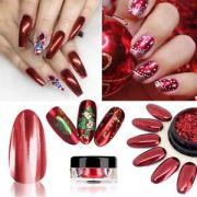 red mirror powder platinum nail