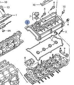 AUDI A6 A6Q A8Q S8 1998-04 4.2L V8 DRIVERS SIDE ENGINE