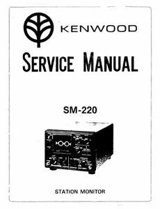 KENWOOD SM-220 SERVICE MANUAL BOOK IN ENGLISH STATION