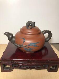 Yixing ZiSha Teapot Vintage With Artist Marking