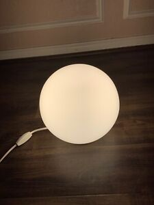 Ikea Round Lamp : round, Pre-owned, Round, Glass, Table, Lighting, White, Bottom