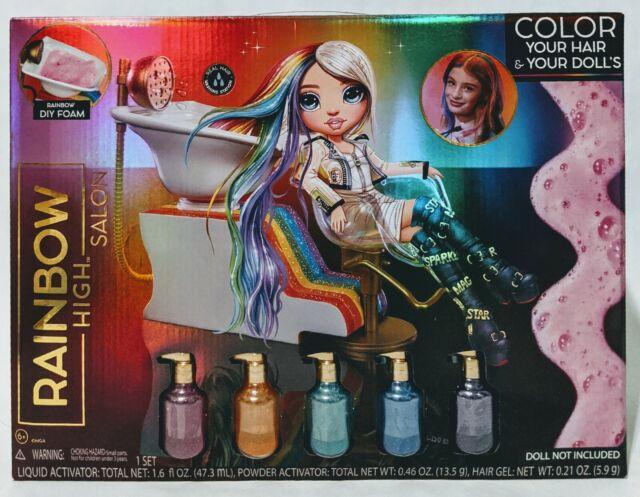 ? Rainbow High Hair Salon Playset w Salon Chair Sink Hair styling color set   eBay