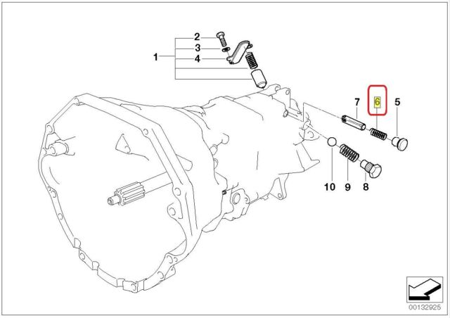 OEM BMW 3 Series E46 M3 SMG Gearbox Shift Selector Detent