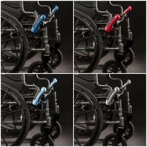 wheelchair grips black metal chaise lounge chair red brake extensions one pair lever lock hand eaze image is loading