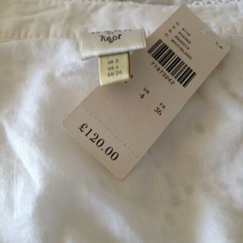 anthropologie gaissel white broderie anglais eyelet lace blouse uk 6 rrp 120 tops women s clothing