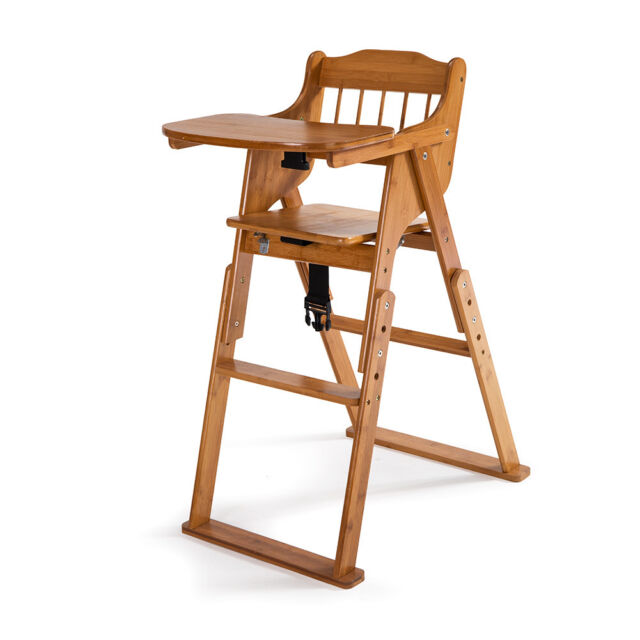 Baby High Chair Bamboo Stool Infant Feeding Children