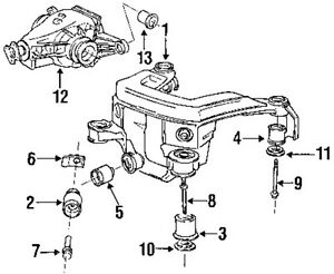 BMW OEM 33171134871 Axle & Differential-Bushing