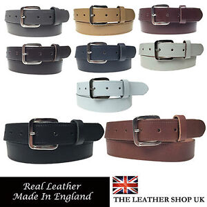 """... Mens Womens 1.25"""" Wide Real Leather 30mm Made In England Belt 
