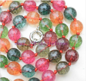 """18"""" AAA NEW Faceted fake Tourmaline Multi-Color Gemstone ..."""