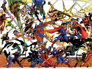 details about jla vs avengers marvel dc george perez poster 3 sizes