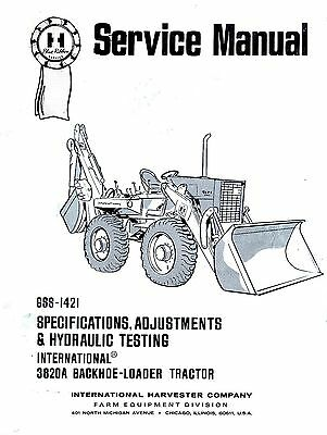 International 3820A 3820-A Specifications Adjustment
