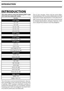 Sea-Doo PWC 2014 4TEC GTI GTX GTR GTS RXP RXT Wake service