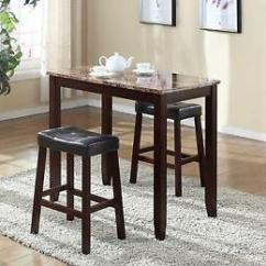 Counter Height Bar Chairs Rattan Indoor Nz Buy Marble 3pc Breakfast Table Stools Kitchen Nook Set
