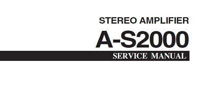 YAMAHA A-S2000 SERVICE MANUAL INC SCHEMATIC DIAGRAMS