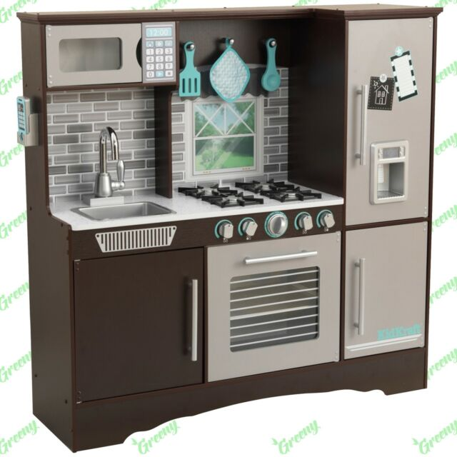 play kitchens for boys home depot kitchen floor tile kidkraft deluxe culinary pastel wooden childs girls espresso toy christmas