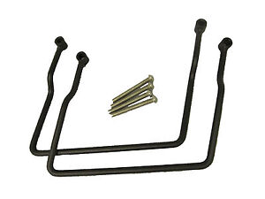 Pair of Black Saddlebag Supports Brackets for Kawasaki