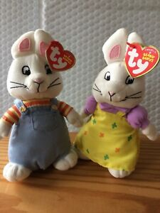 Max And Ruby New Baby : LICENSED, Beanie, Babies, (Nickelodeon)