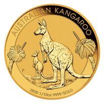 1/10 oz Gold Känguru 2020 - 15 Dollar Australien - Stempelglanz Goldmünze 999,9