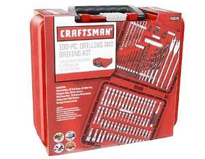 CRAFTSMAN Tools 100pc DRILL DRIVER & POWER BITS Set w ...
