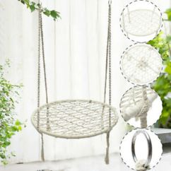 Rope Chair Swing Covers With Sashes For Rent White Hammock Morocco Round Macrame Net Hanging Chairs Details About Handmade Home