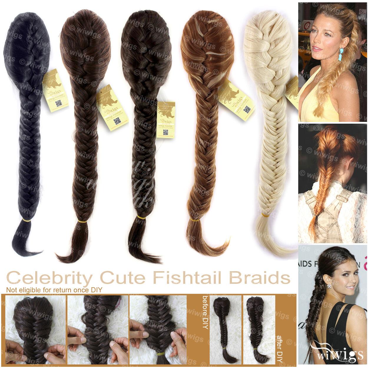 Wiwigs Celebrity Clip In Fishtail Plait Braids Ponytail