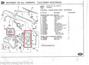 Land Rover Defender Wiper Motor Wiring Diagram
