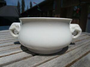 A Superb Chinese White Glazed Porcelain Censer, Marked