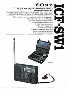 SONY ICF-SW1 SHORTWAVE RADIO AUDIO PROBLEM REPAIR SERVICE