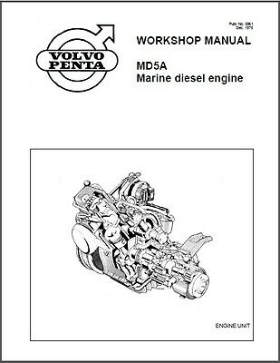 Volvo Penta MD5A Marine Diesel Engine Service Manual on a