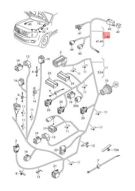 Genuine VW Amarok Wiring Harness For Blower Lhd 2H0971282