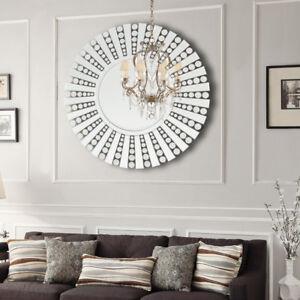 large living room wall mirrors grey wood flooring ideas round circular mirror modern bedroom sunflower image is loading