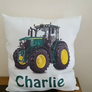 details about personalised john deere tractor cushion pillowcase pillow case with any name