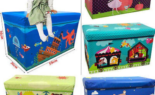 Kids Children S Large Storage Toy Box Boys Girls Books