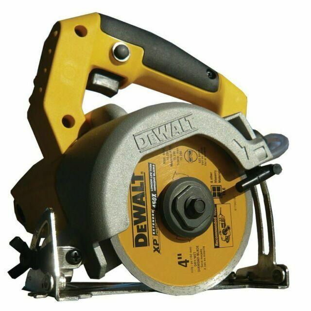 dewalt dwc410 1 3kw 240v portable wet circular tile saw body only 110 mm