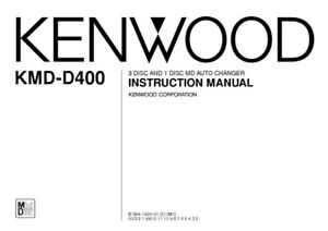 Kenwood KMDD-400 Minidisc Changer Owners Instruction