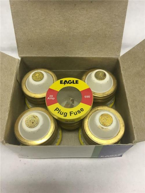 small resolution of eagle ok glass plug fuses 690 20 20 amps 125v boxes of 5 for sale online ebay