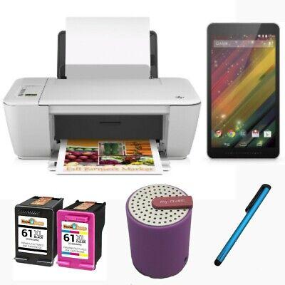 HP Deskjet 2540 eAiO Inkjet Printer w 61XL Ink and HP 7 G2 Android Tablet Bundle   eBay