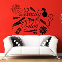 Vinyl Wall Decals Beauty Hair Hairdressing Spa Salon