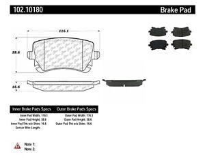 Disc Brake Pad Set-C-TEK Metallic Brake Pads Rear Centric