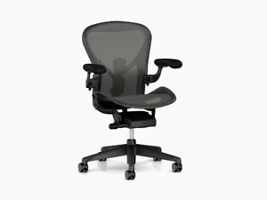 white aeron chair little kid chairs herman miller remastered brand new fully adjustable full image is loading